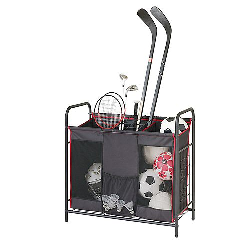 Heavy Duty Multipurpose Utility Organizer with 3 Compartments and Removable Wire Grid
