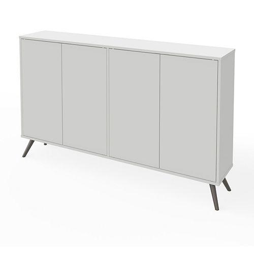 Krom Cabinet de rangement 60 avec pattes en métal - Blanc