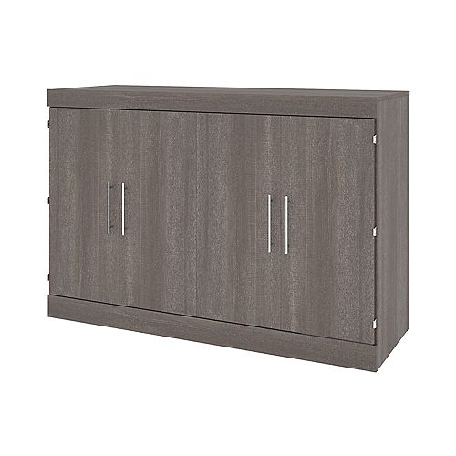 Nebula 67W Queen Cabinet Bed with Mattress - Bark Grey