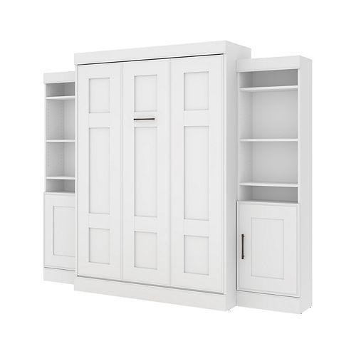 Edge Lit escamotable deux places (double) avec 2 unités de rangement (102L) - Blanc