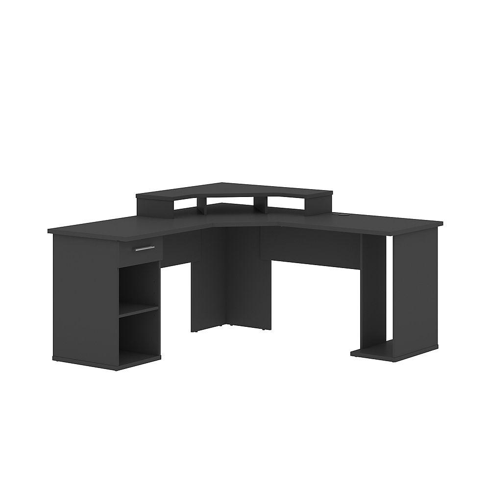 Bestar Hampton L Shaped Corner Gaming Desk Graphite The Home Depot Canada