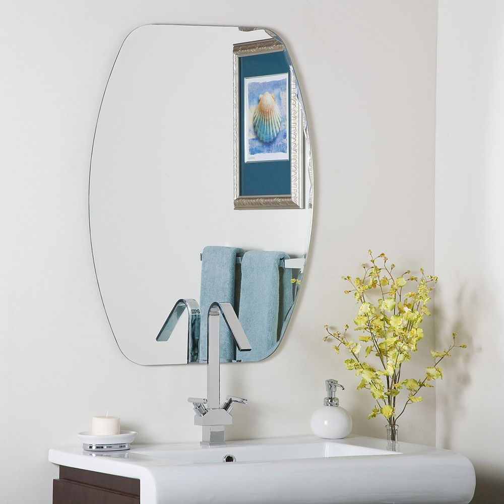 Decor Wonderland 32-inch  x 24-inch  Sensor Frameless Wall Mirror with Bevelled Edge and Dual Mounting Brackets