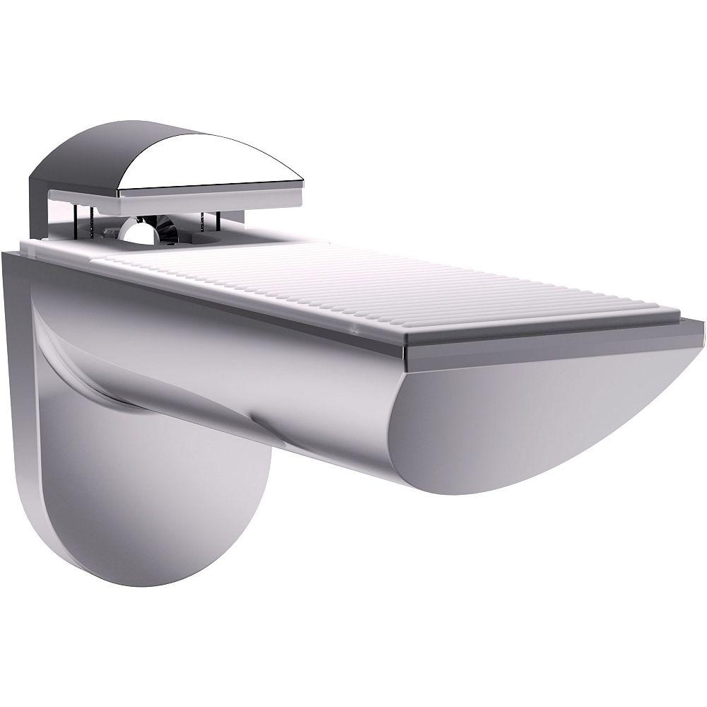 Richelieu 1 Pair - Kaiman Wall Mount Shelf Support for Glass and Wood Shelves - Chrome