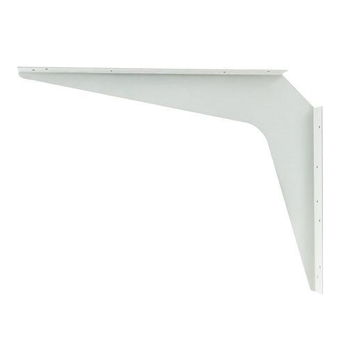 1 Paire, Support robuste pour plan de travail Kolossus de 24 po (610 mm), Blanc, hauteur 18 po