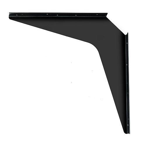 1 Paire, Support robuste pour plan de travail Kolossus de 24 po (610 mm), Noir, hauteur 24 po