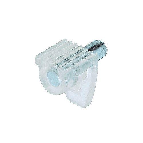 Sachet de 100 - Support à tablette de verre de 3/16 po (5 mm) Transparent