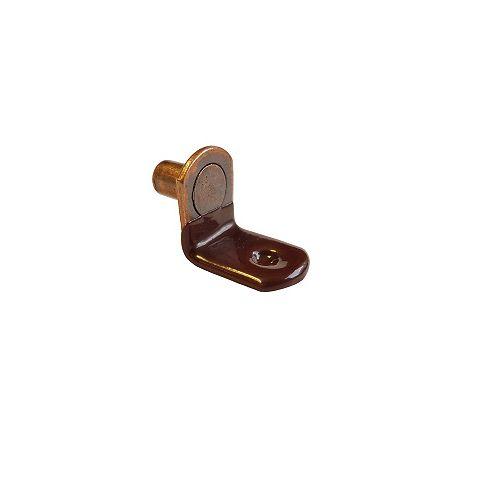 Sachet de 100 - Support à tablette de verre de 1/4 po (6.35 mm) Brun, Cuivre antique