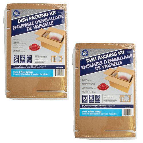 2 Pack Dish Packing Kit