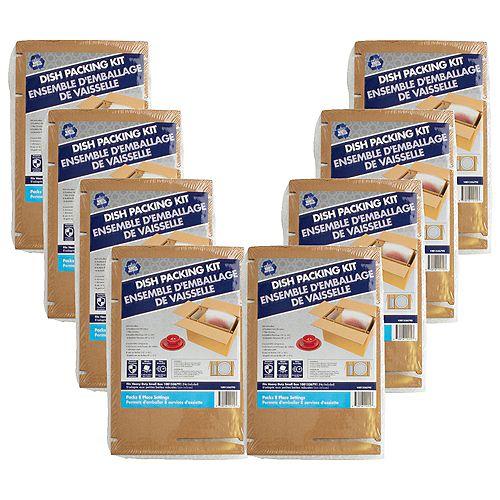 8 Pack Dish Packing Kit