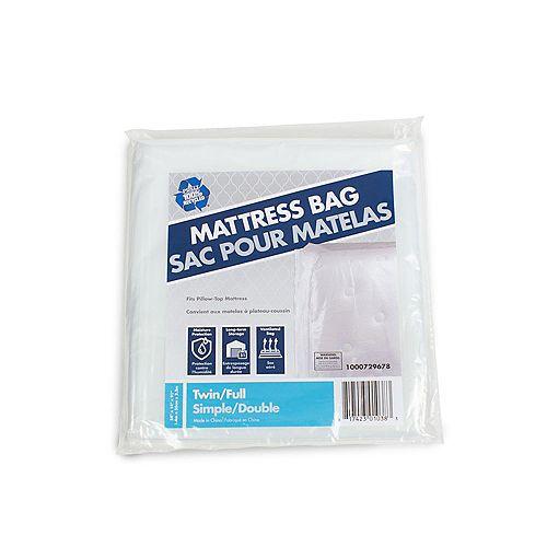 Paquet de 10 Sac pour matelas de lit jumeau ou plein lit de 2,31 m x 1,37 m x 0,36 m