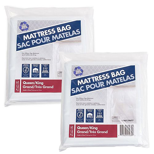2 Pack Queen and King Mattress Bag 100 in. x 78 in. x 14 in.