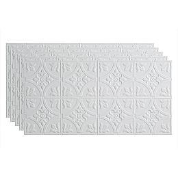Tuile Plaf. À Coller 2x4, Traditional 2, Blanc Mat à Peindre, pqt. 5, 40 pieds carré