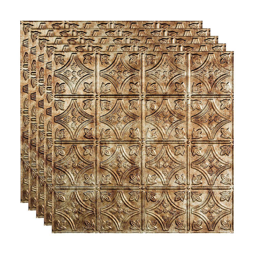 Fasade Tuile Plafond Suspendu, 2x2, Traditional 1, Bermuda Bronze, pqt 5, 20 pieds carré