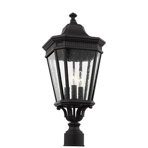 Cotswold Lane Lampe dextérieur poteau en noir 22,5 po à 3 ampoules