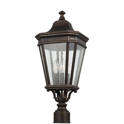 Cotswold Lane Lampe dextérieur poteau en bronze grec 22,5 po à 3 ampoules