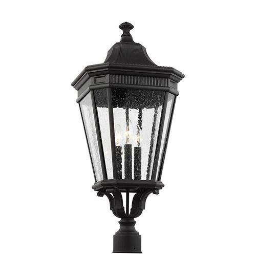 Cotswold Lane Lampe dextérieur poteau en noir 27,5 po H à 3 ampoules