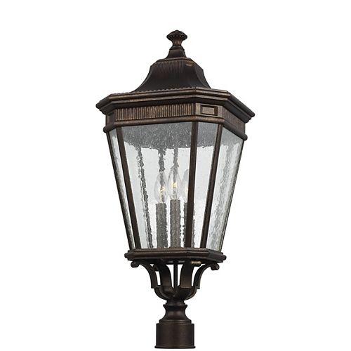 Cotswold Lane Lampe dextérieur poteau en bronze grec à 3 ampoules
