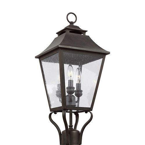 Galena Lampe poteau dextérieur couleur sable à 3 ampoules