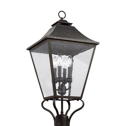 Galena Lampe poteau dextérieur couleur sable à 4 ampoules