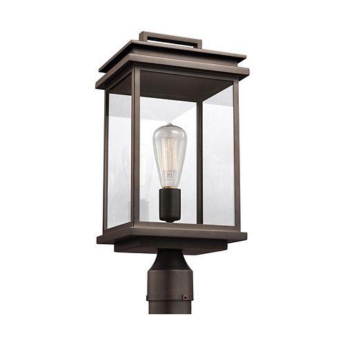 Glenview Lampe poteau dextérieur en bronze antique à 1 ampoule