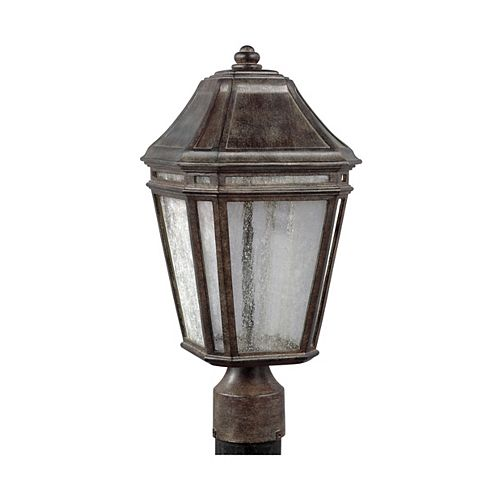 Londontowne Lampe poteau dextérieur couleur châtaigne vieillie à DEL intégrée