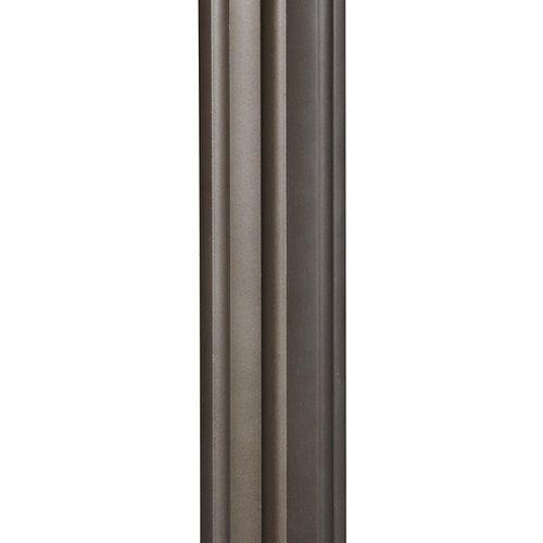 Poteau de lampe dextérieur cannelé bronze huilé de 7 pi