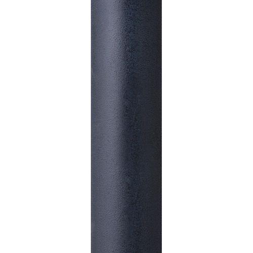 Poteau de lampe dextérieur lisse zinc vieilli foncé de 7 pi