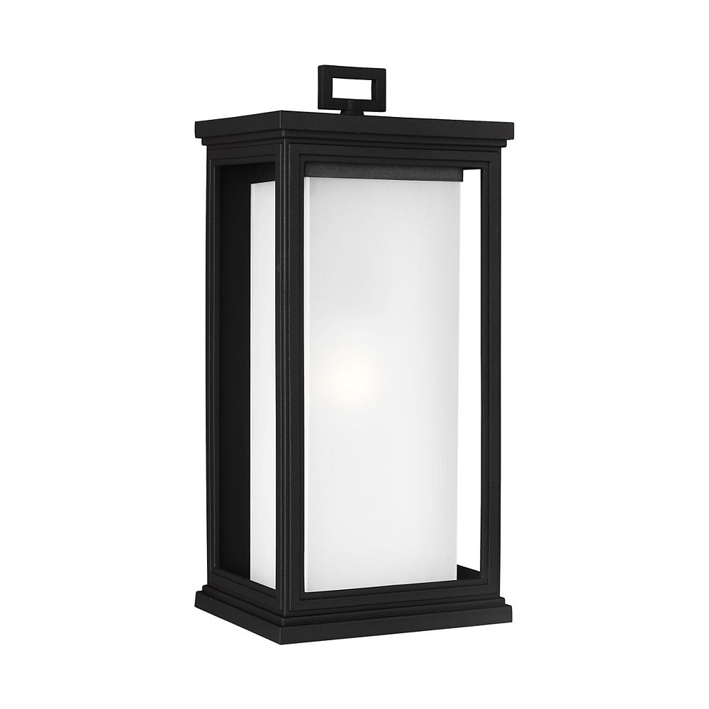 Feiss Collection for Generation Lighting Roscoe Grande lanterne de poteau dextérieur en noir texturé à 1 ampoule