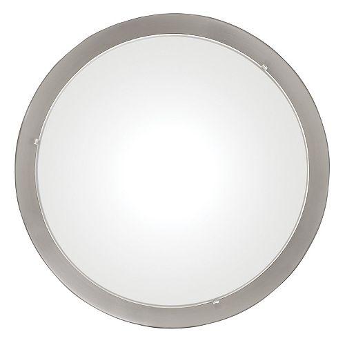 Planet 2-Light 60W Matte Nickel with Satin Glass Flushmount