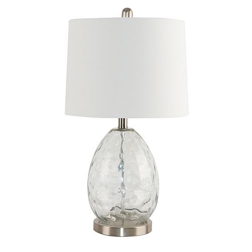 Brandi 24- Inch  Glass Table Lamp