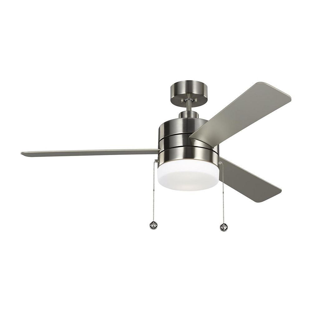 Monte Carlo Fans Syrus 52-inch Indoor Brushed Steel Ceiling Fan