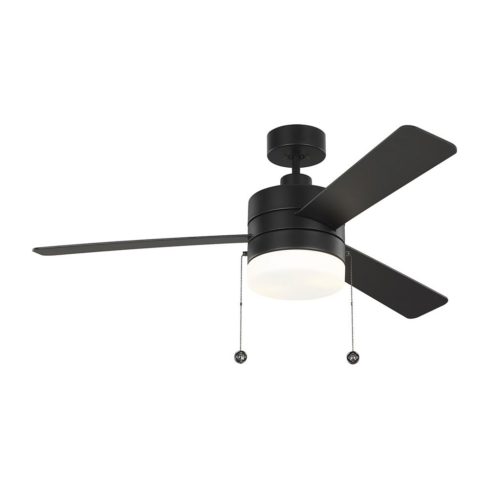 Monte Carlo Fans Syrus 52-inch Indoor Midnight Black Ceiling Fan