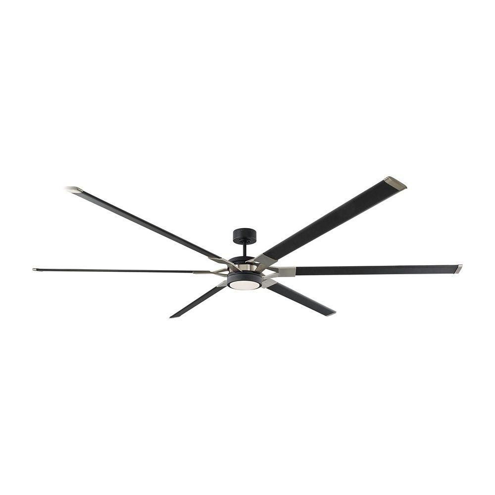 Monte Carlo Fans Loft 96-inch LED Indoor/Outdoor  Midnight Black Ceiling Fan
