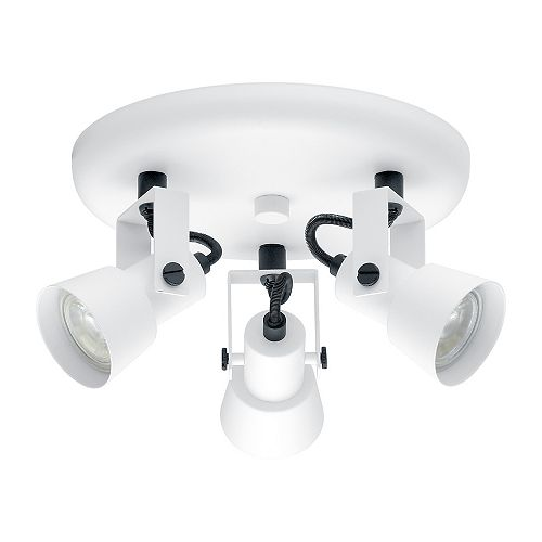 Trillo 1, 10.5 inch, White and Black Finish, Track Lighting