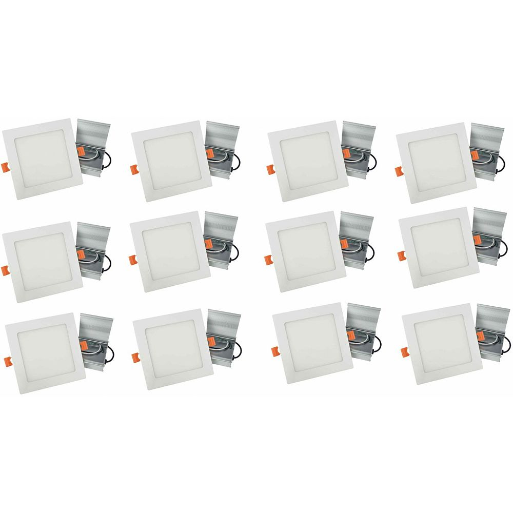 American Imaginations Square Modern 6-inch White Recessed Kit (12-Pack)