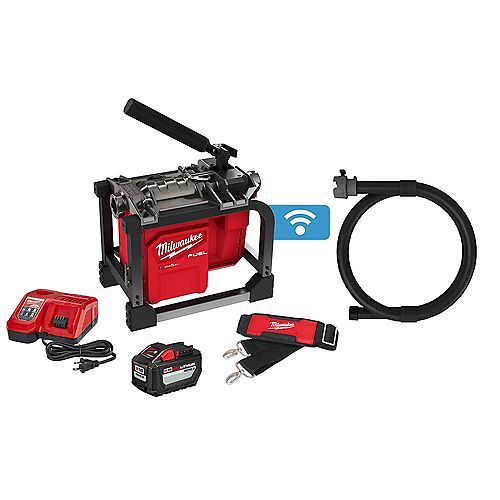M18 FUEL 18V Brushless Cordless Sewer Drain Cleaning Sectional Machine Kit w/ Battery and Charger