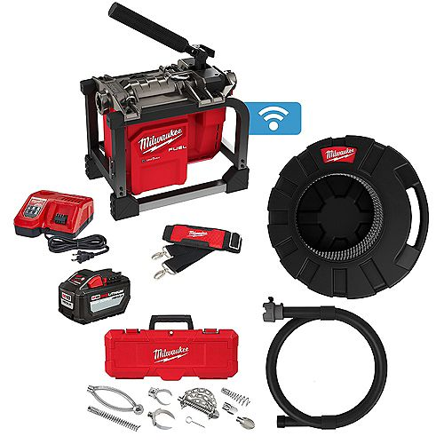 M18 FUEL 7/8 -inch 18V Sewer Drain Cleaning Sectional Machine Kit with Cable and Attachments