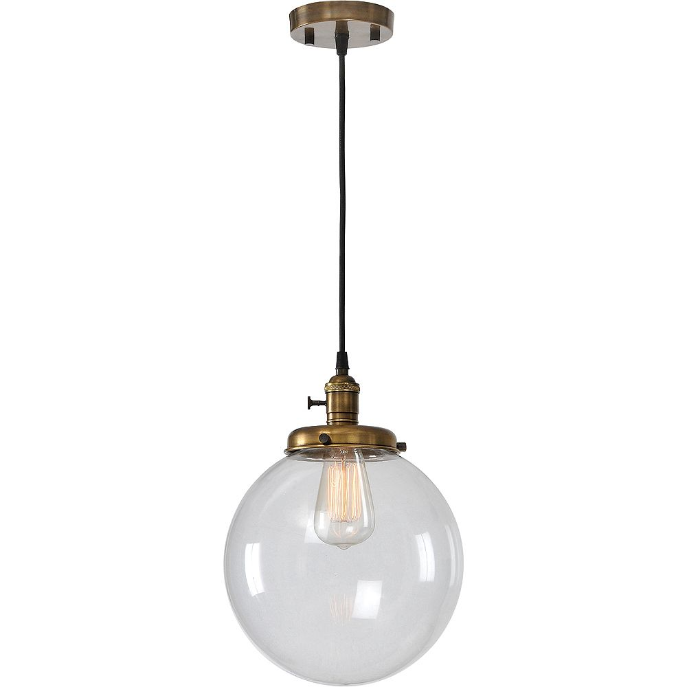 Notre Dame Design Leilani 1-Light Antique Brass Pendant