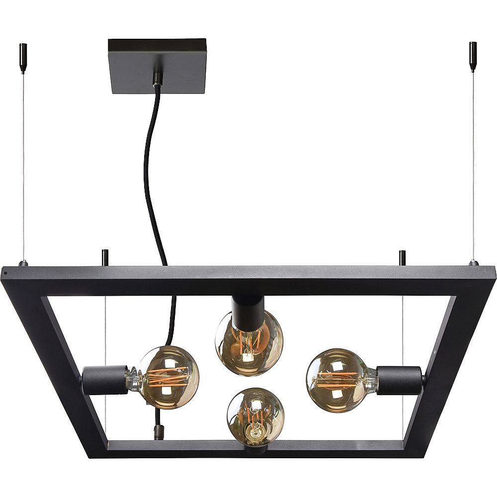 Notre Dame Design Marigolden 4-Light Black Pendant