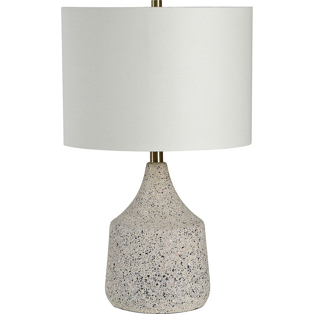 Notre Dame Design Ontario 22-inch Table Lamp with Off White Cotton Shade