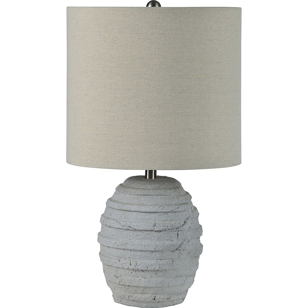 Notre Dame Design Lanza 20-inch Table Lamp with Natural Linen Shade