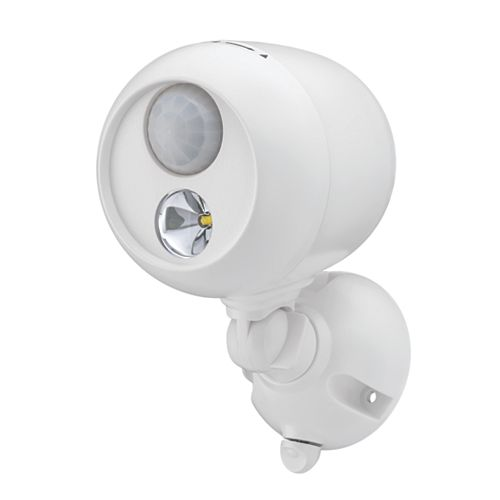 Projecteur LED à détecteur de mouvement sans fil - Blanc