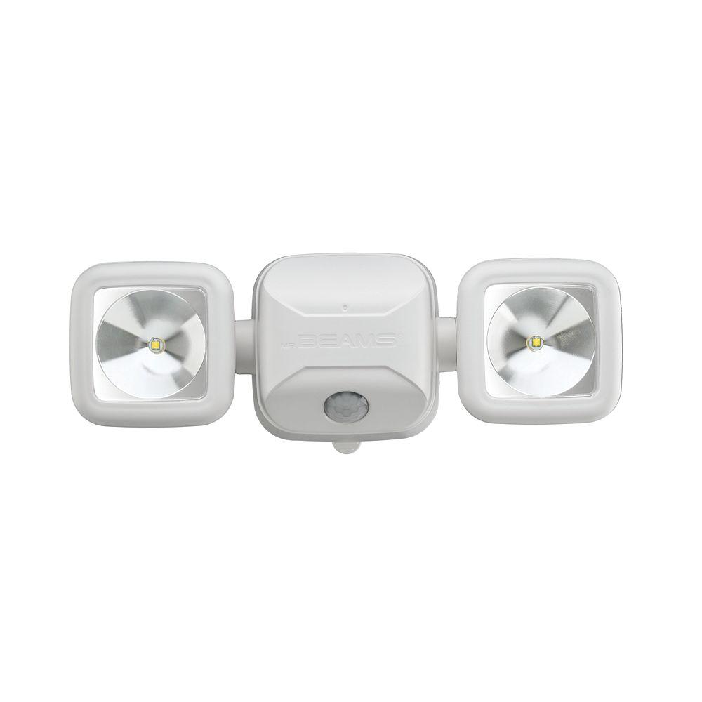 Mr.Beams Éclairage de sécurité à capteur de mouvement haute performance sans fil - Blanc