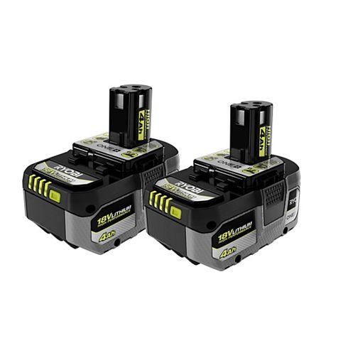 18V ONE+ Batterie haute capacité 4.0 Ah HP (2-Pack)