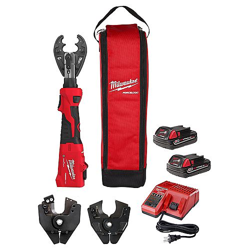 M18 18V Lithium-Ion Cordless FORCE LOGIC 6-Ton Utility Crimping Kit with O-D3 Jaw