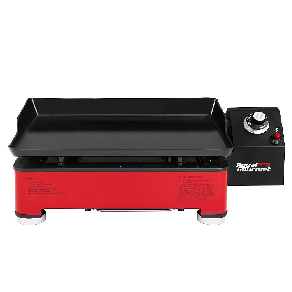Royal Gourmet Royal Gourmet PD1202R Portable Table Top  Gas Grill, 12,000-BTU, for Outdoor Cooking, Red