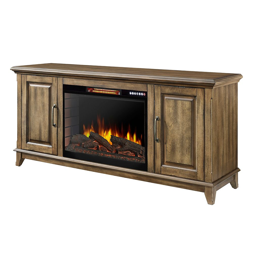 Muskoka Marcus 60 in. Electric Fireplace with Bluetooth in Antique Pine