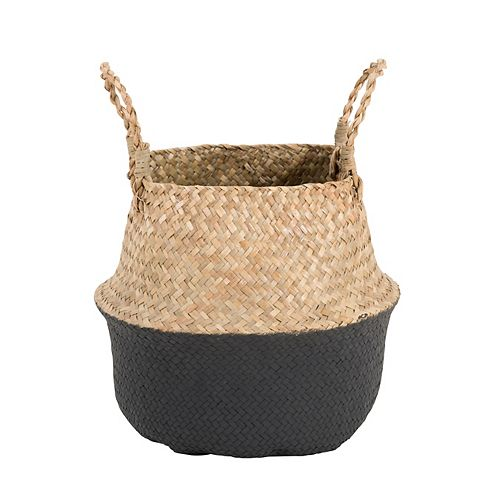 Seagrass Basket in Natural and Black