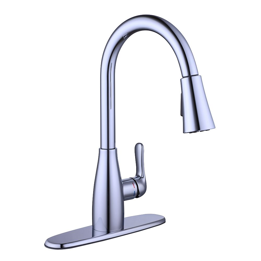 Glacier Bay McKenna Single-Handle Pull-Down Kitchen Faucet Sprayer in Polished Chrome