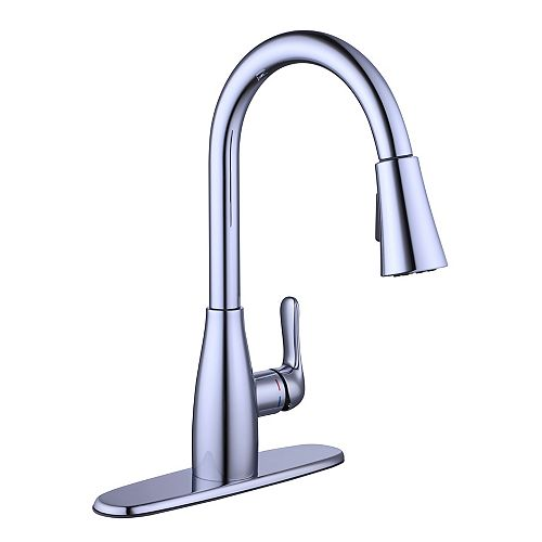 McKenna Single-Handle Pull-Down Kitchen Faucet Sprayer in Polished Chrome